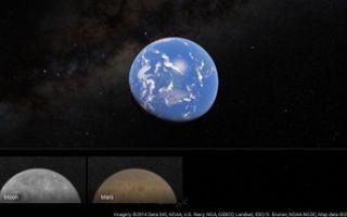 Google Карты позволят исследовать Марс и Луну
