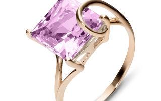Золотые кольца с топазом