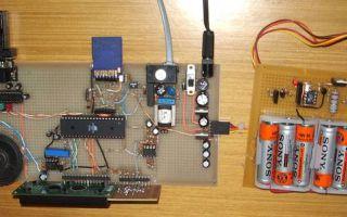 Разработка схемы устройства на микроконтроллере