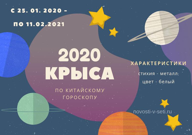 следующий год кого будет 2020 год животного по гороскопу