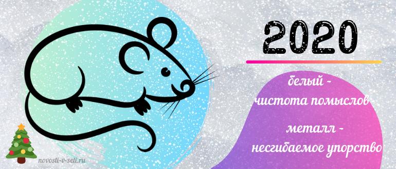 год какой крысы будет в 2020 году какого цвета