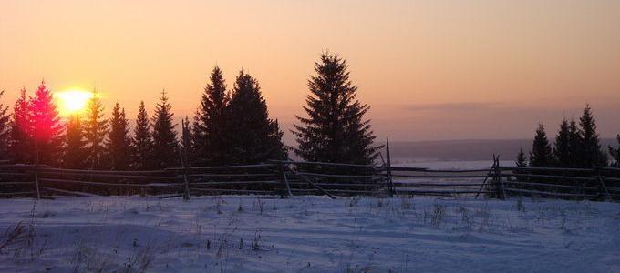 зимняя погода на урале