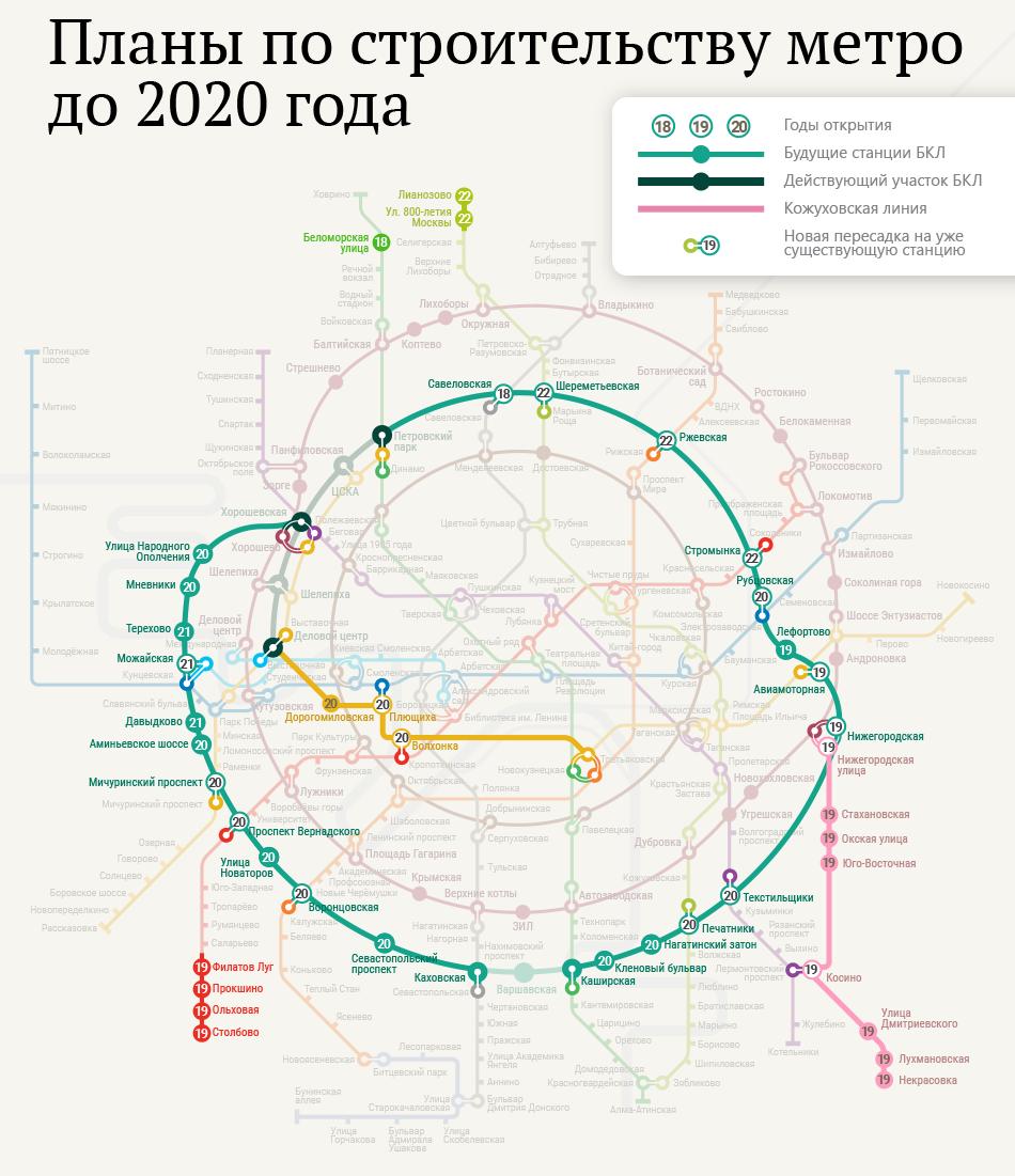 наземное метро москвы схема с новыми станциями 2020